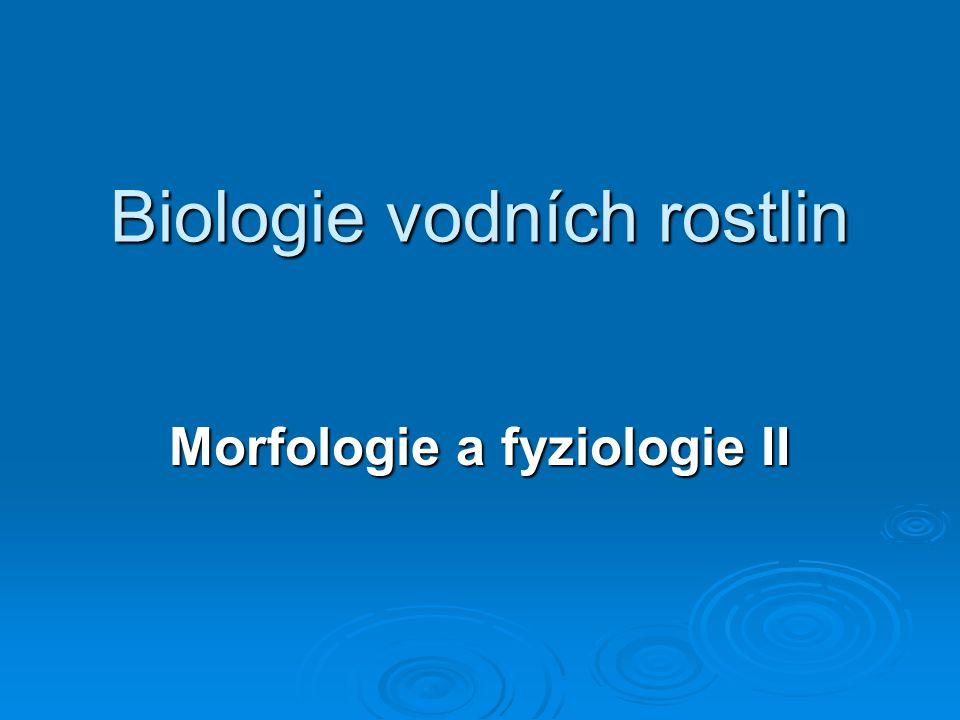 Biologie vodních rostlin