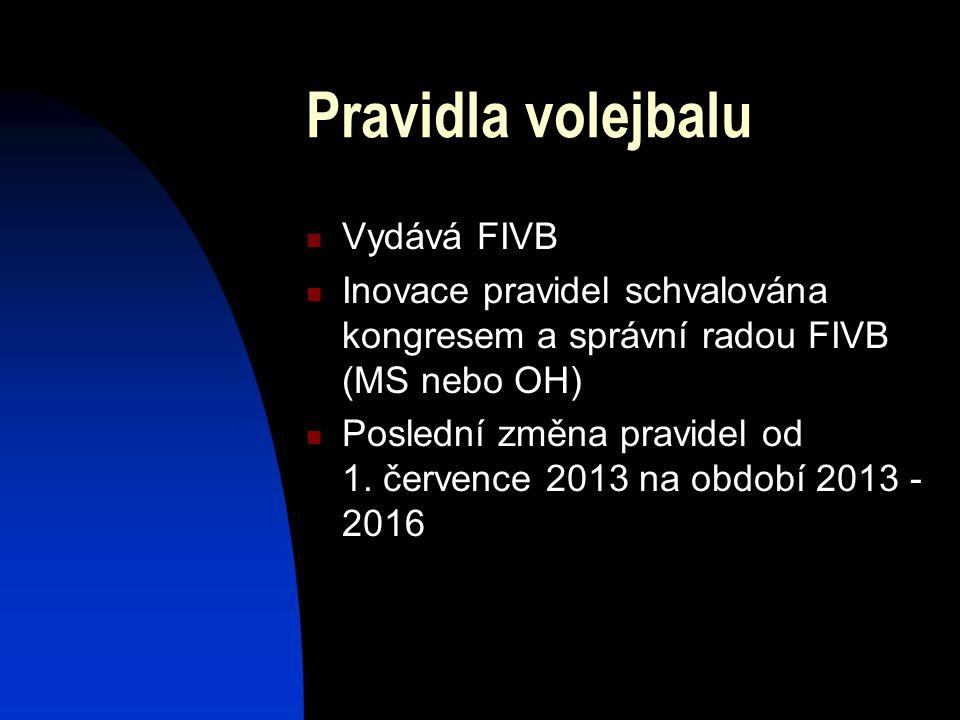 Pravidla volejbalu Vydává FIVB