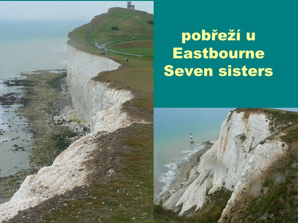 pobřeží u Eastbourne Seven sisters
