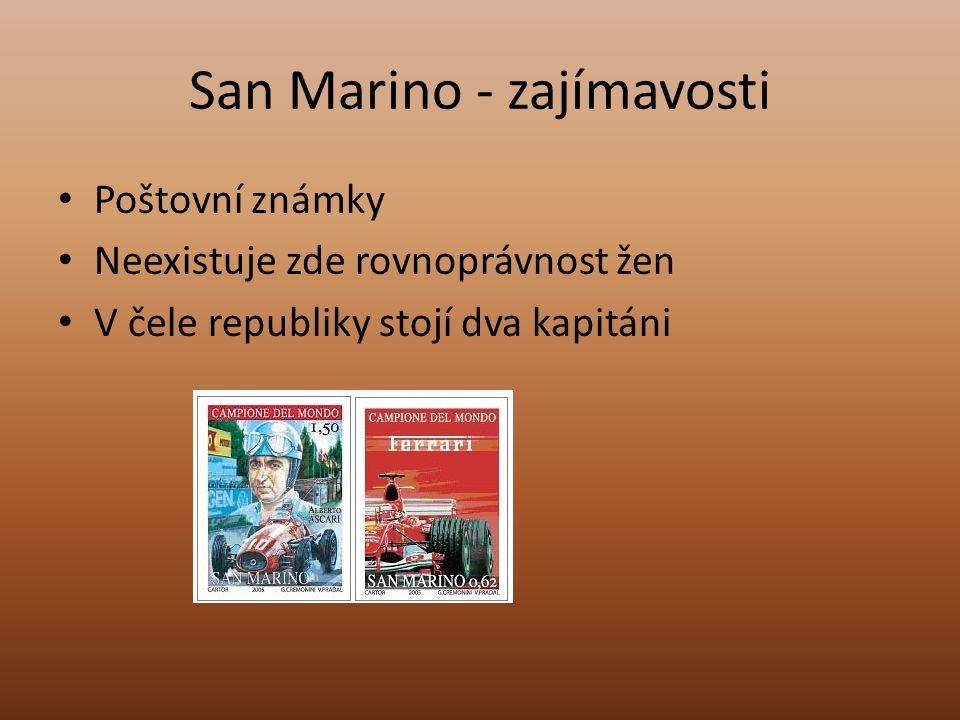 San Marino - zajímavosti