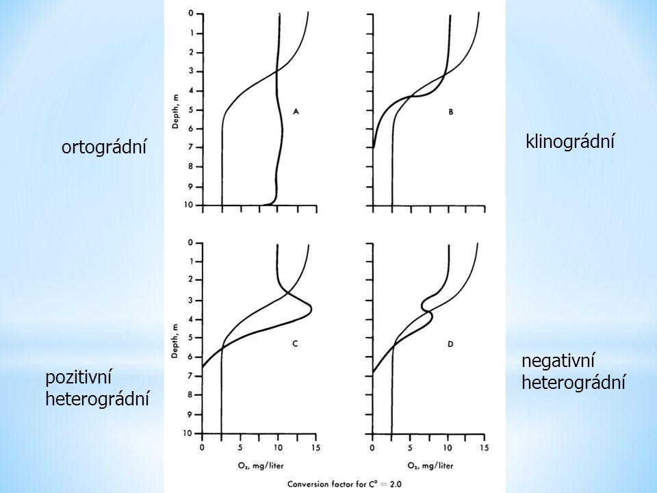 klinográdní ortográdní negativní heterográdní pozitivní heterográdní