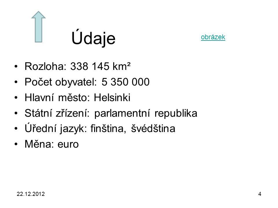 Údaje Rozloha: 338 145 km² Počet obyvatel: 5 350 000