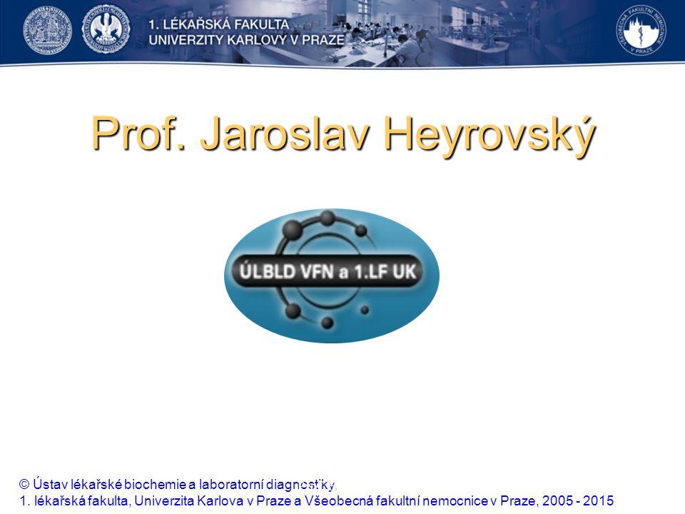 Prof. Jaroslav Heyrovský