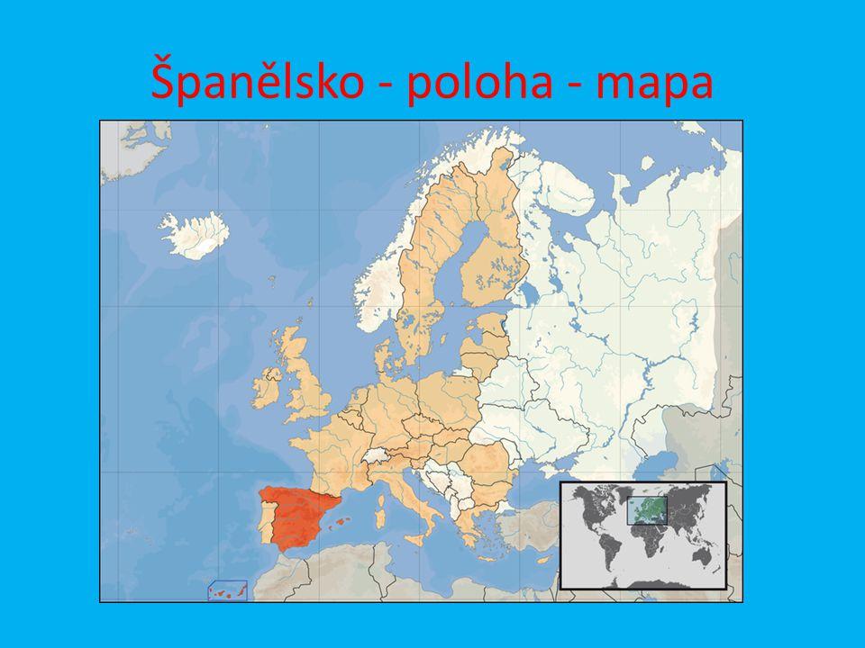 Španělsko - poloha - mapa