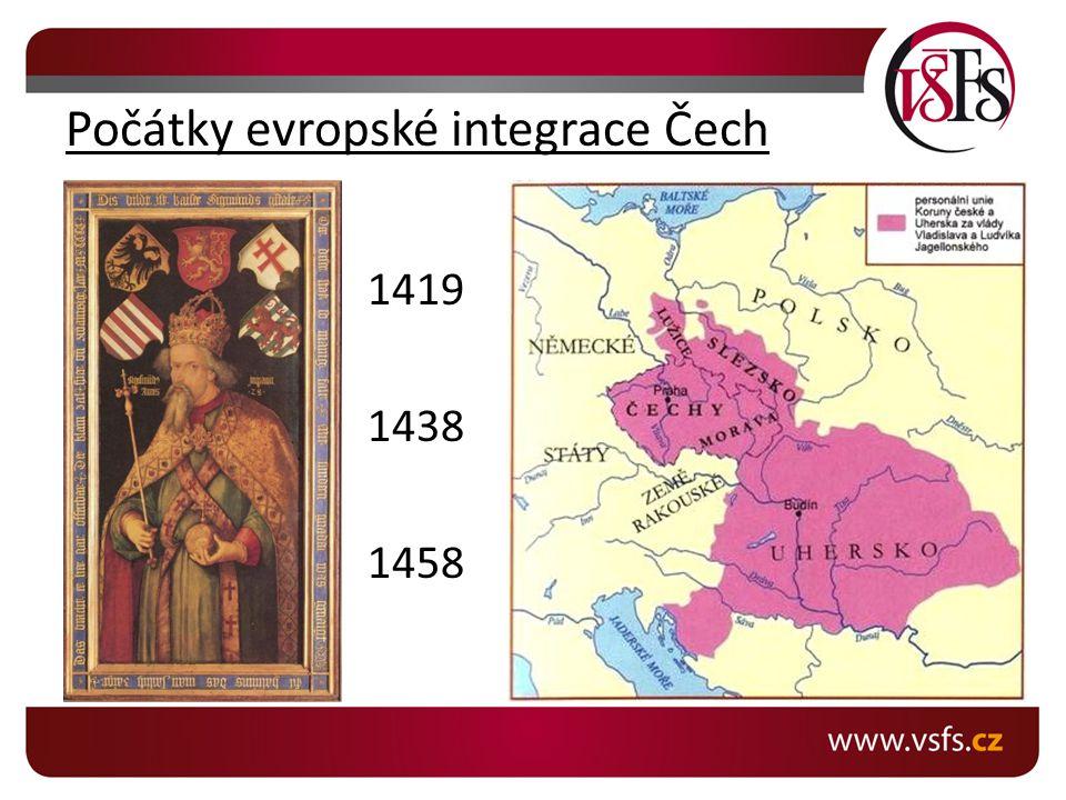 Počátky evropské integrace Čech
