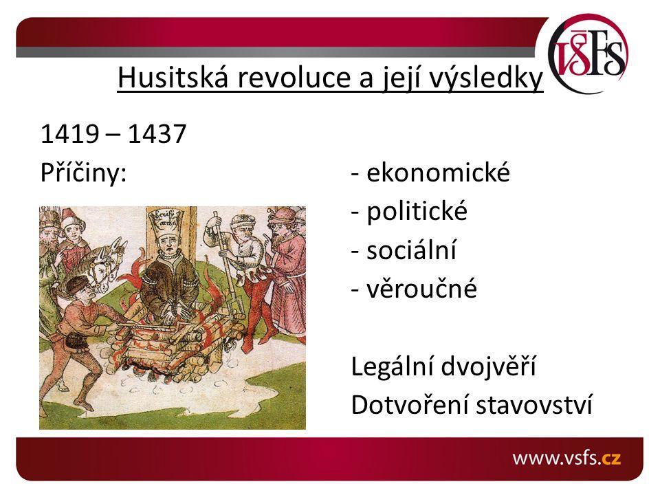 Husitská revoluce a její výsledky