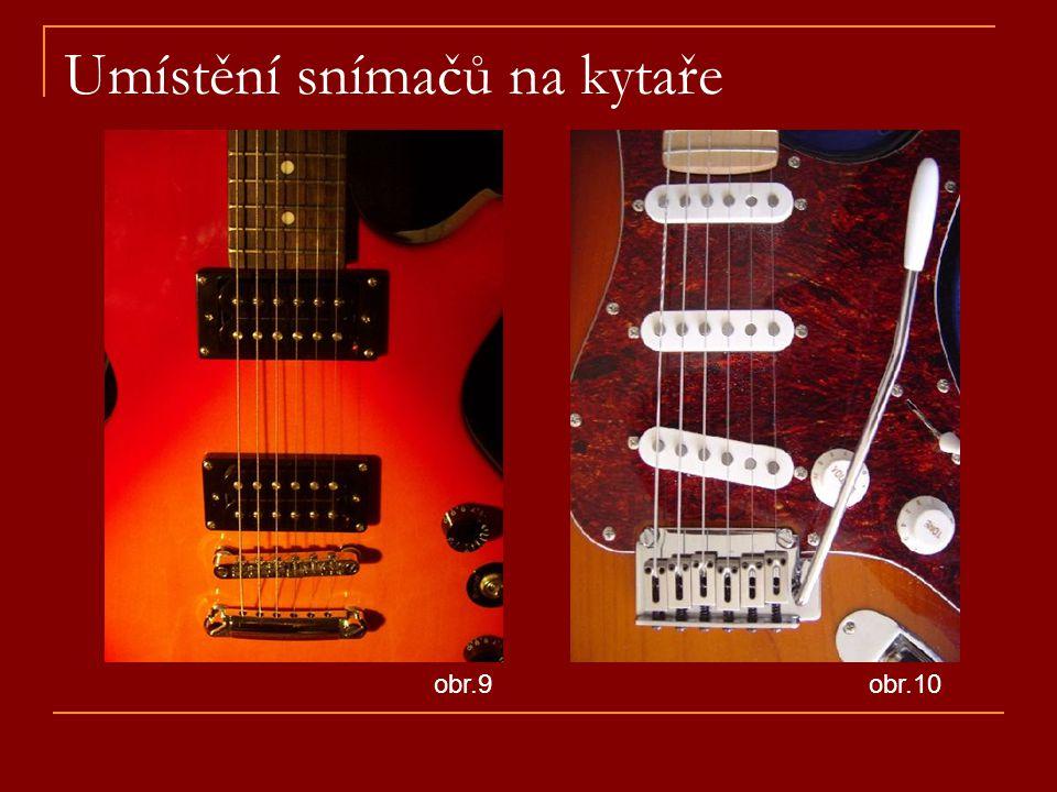 Umístění snímačů na kytaře