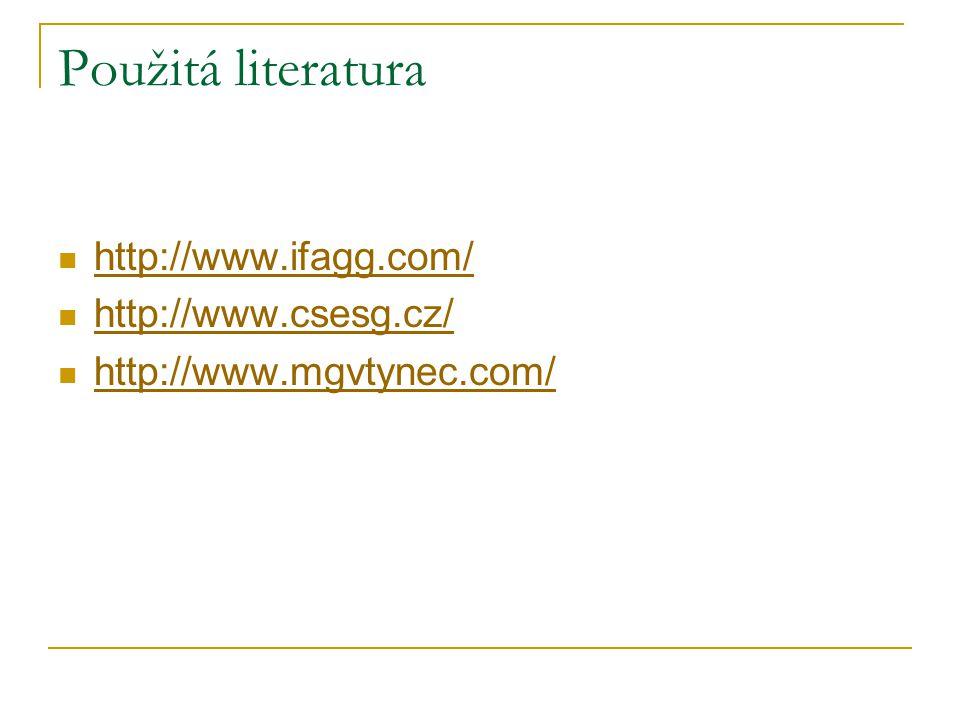 Použitá literatura http://www.ifagg.com/ http://www.csesg.cz/