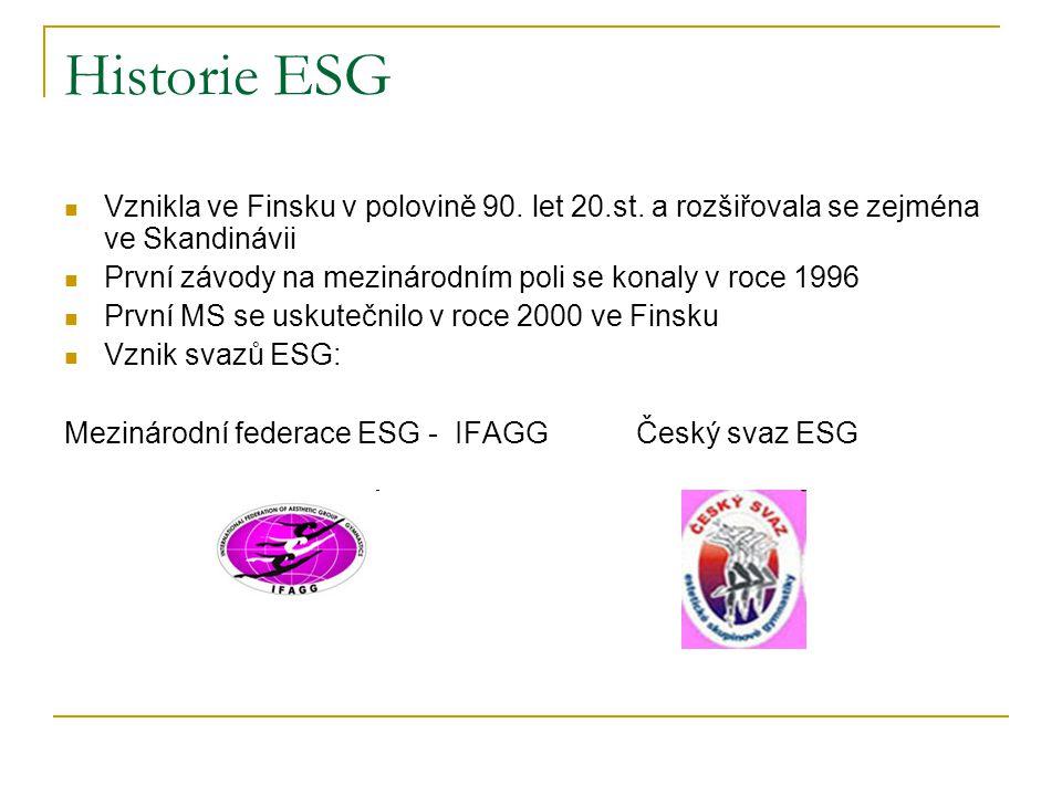 Historie ESG Vznikla ve Finsku v polovině 90. let 20.st. a rozšiřovala se zejména ve Skandinávii.