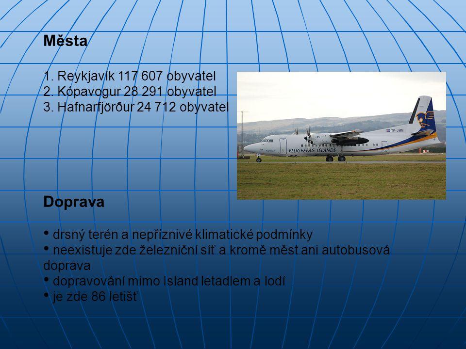 Města Doprava 1. Reykjavík 117 607 obyvatel