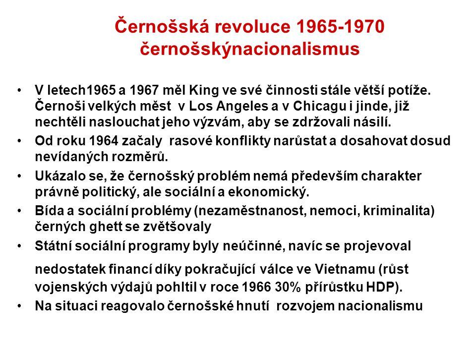 Černošská revoluce 1965-1970 černošskýnacionalismus