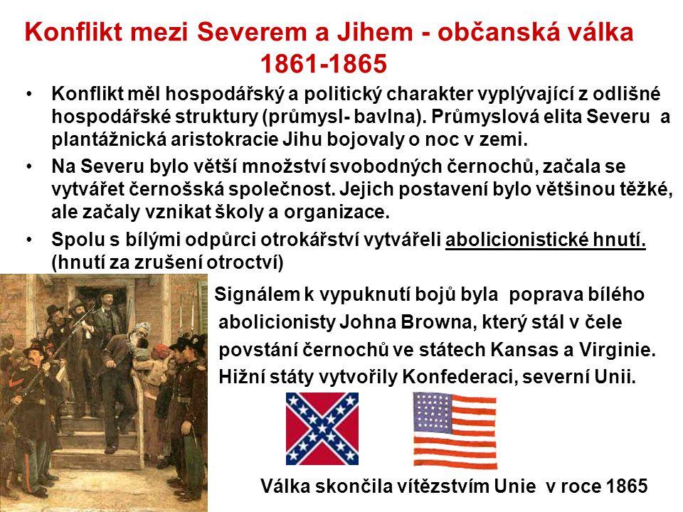 Konflikt mezi Severem a Jihem - občanská válka 1861-1865