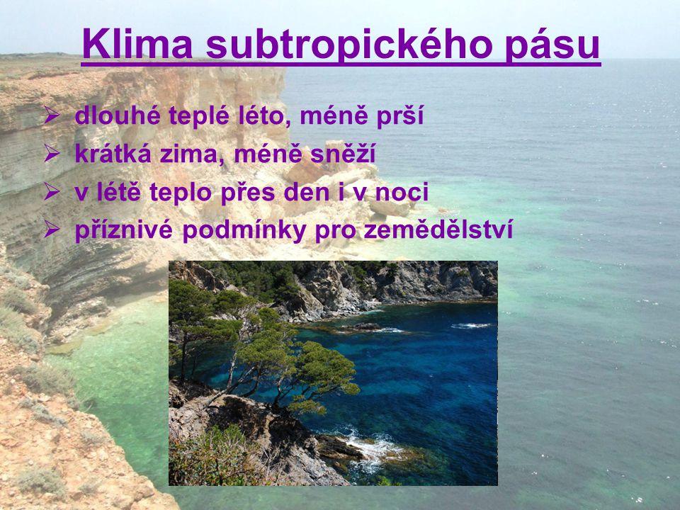 Klima subtropického pásu