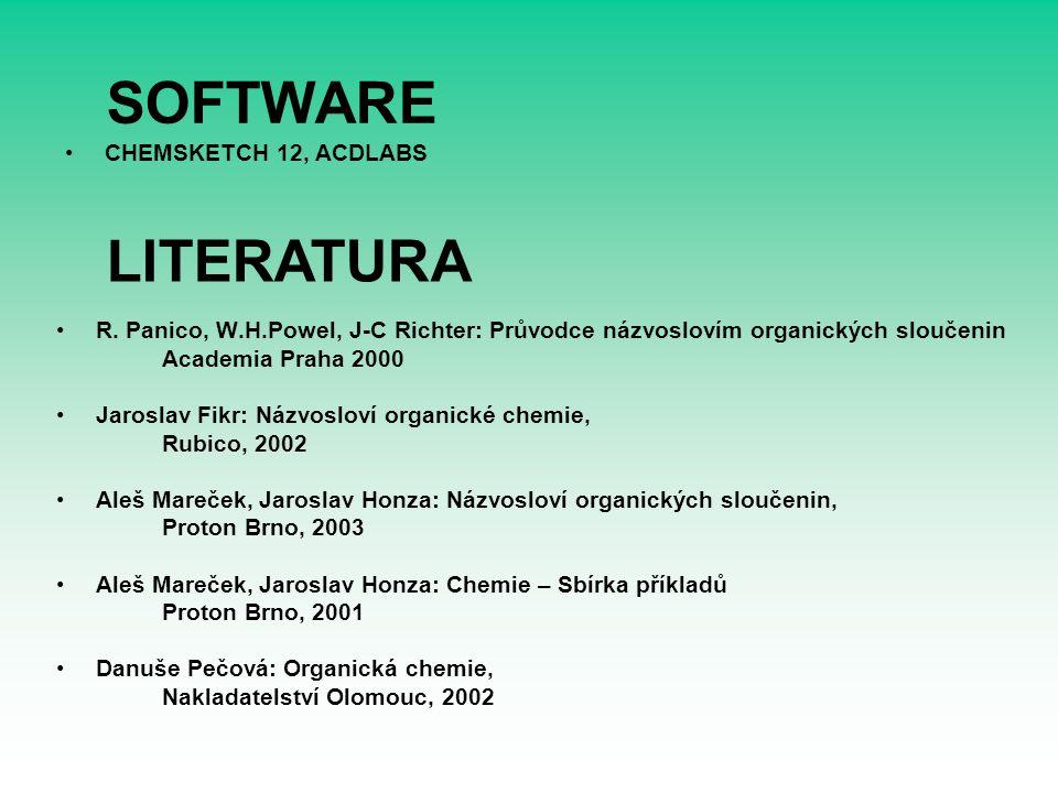 SOFTWARE LITERATURA CHEMSKETCH 12, ACDLABS