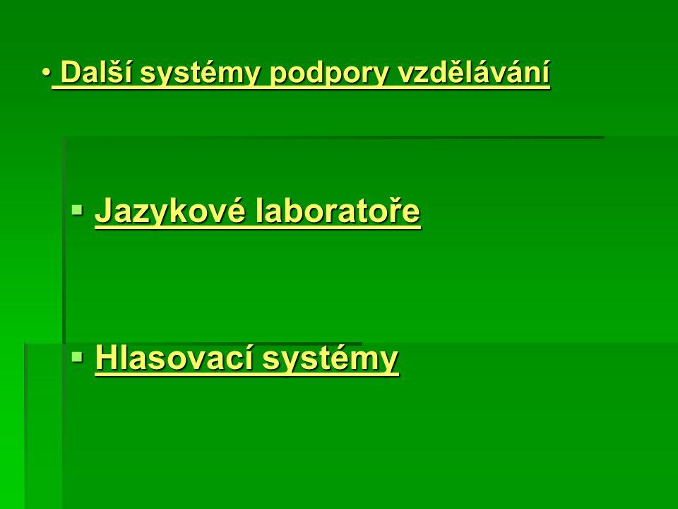 Další systémy podpory vzdělávání