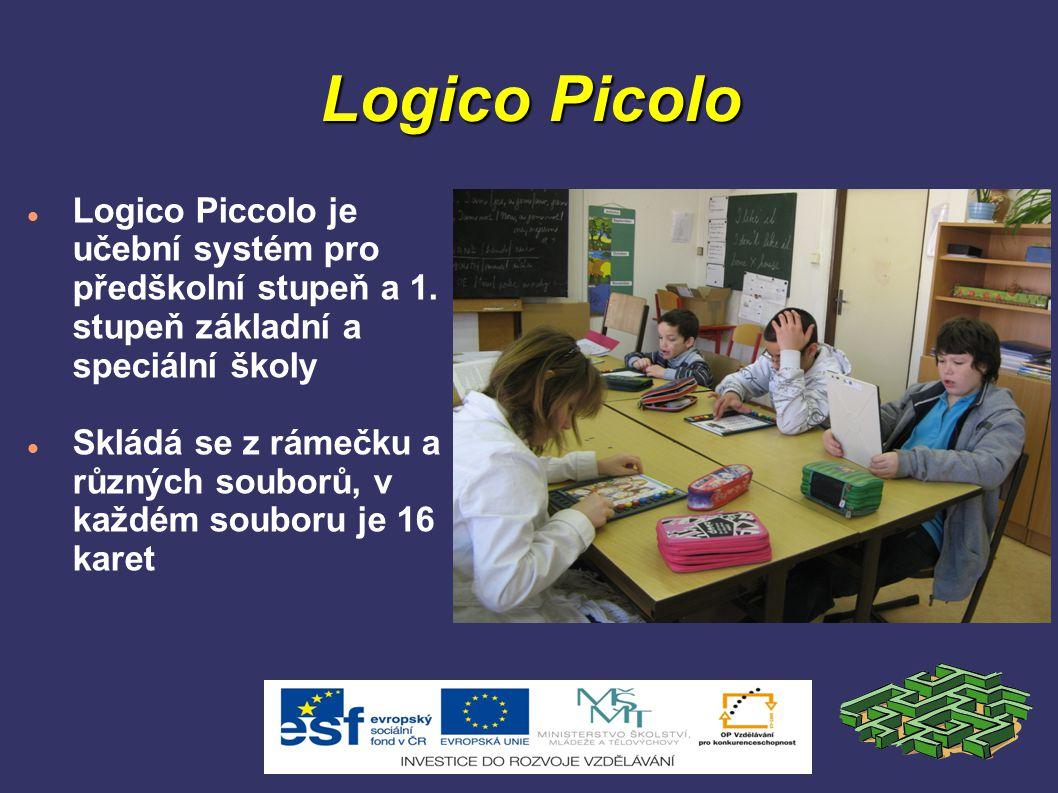 Logico Picolo Logico Piccolo je učební systém pro předškolní stupeň a 1. stupeň základní a speciální školy.