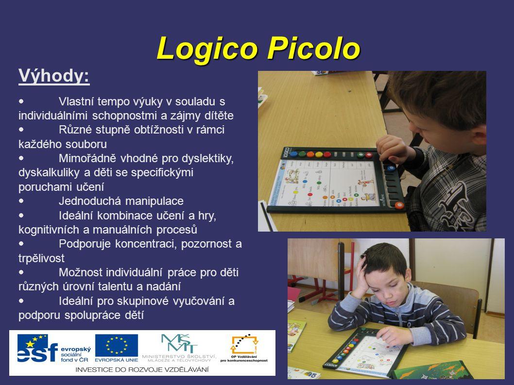 Logico Picolo Výhody: · Vlastní tempo výuky v souladu s individuálními schopnostmi a zájmy dítěte.