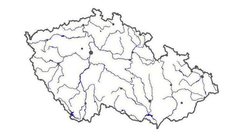 Interaktivní mapa řek ČR