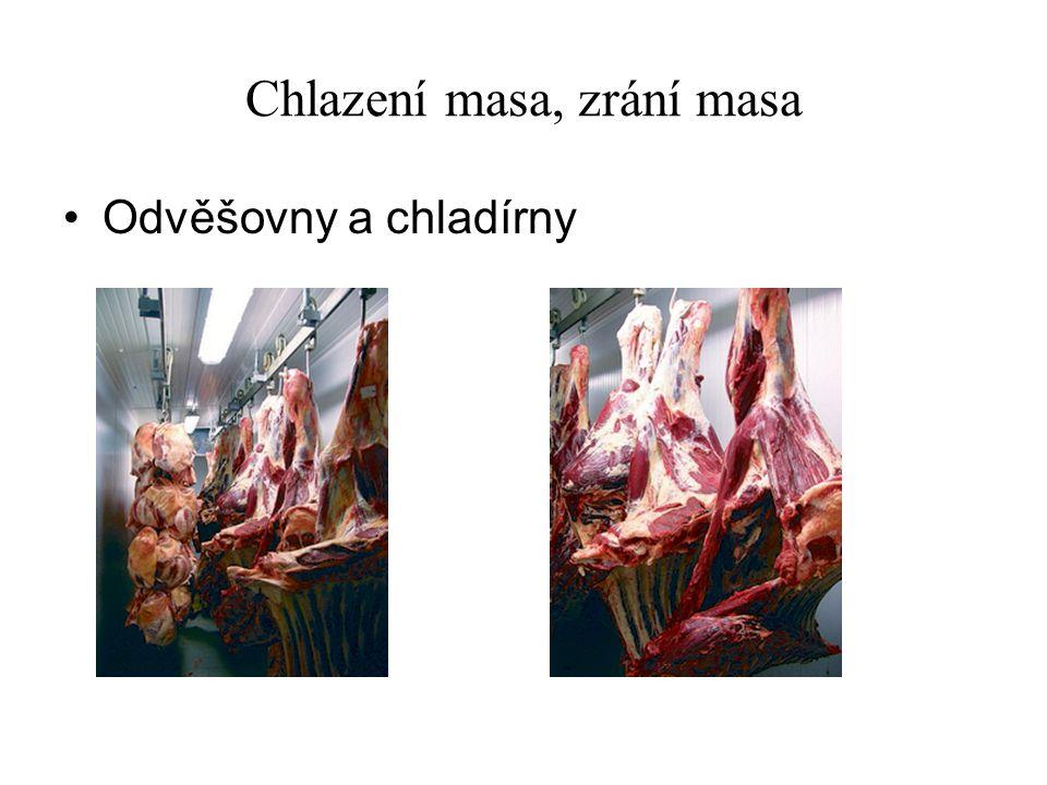 Chlazení masa, zrání masa