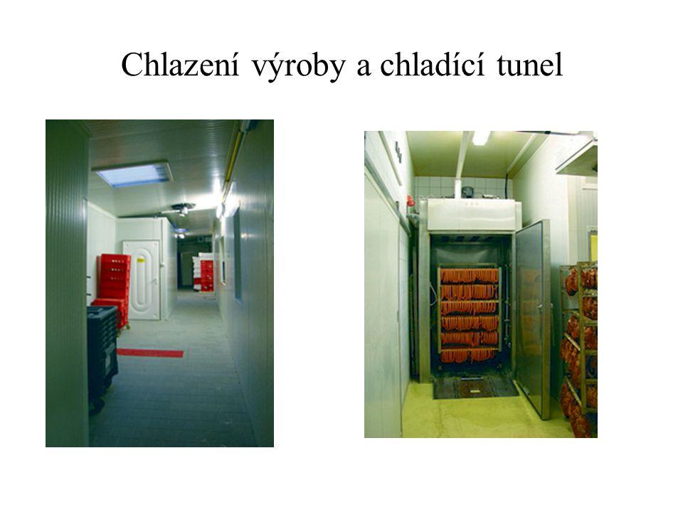 Chlazení výroby a chladící tunel