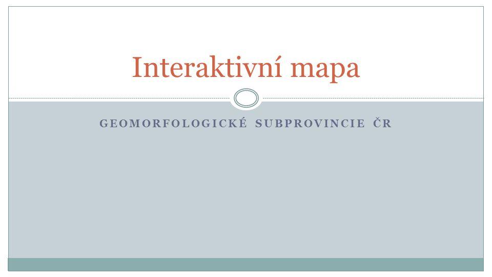 geomorfologické subprovincie ČR