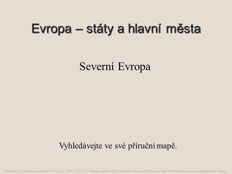 Evropa – státy a hlavní města