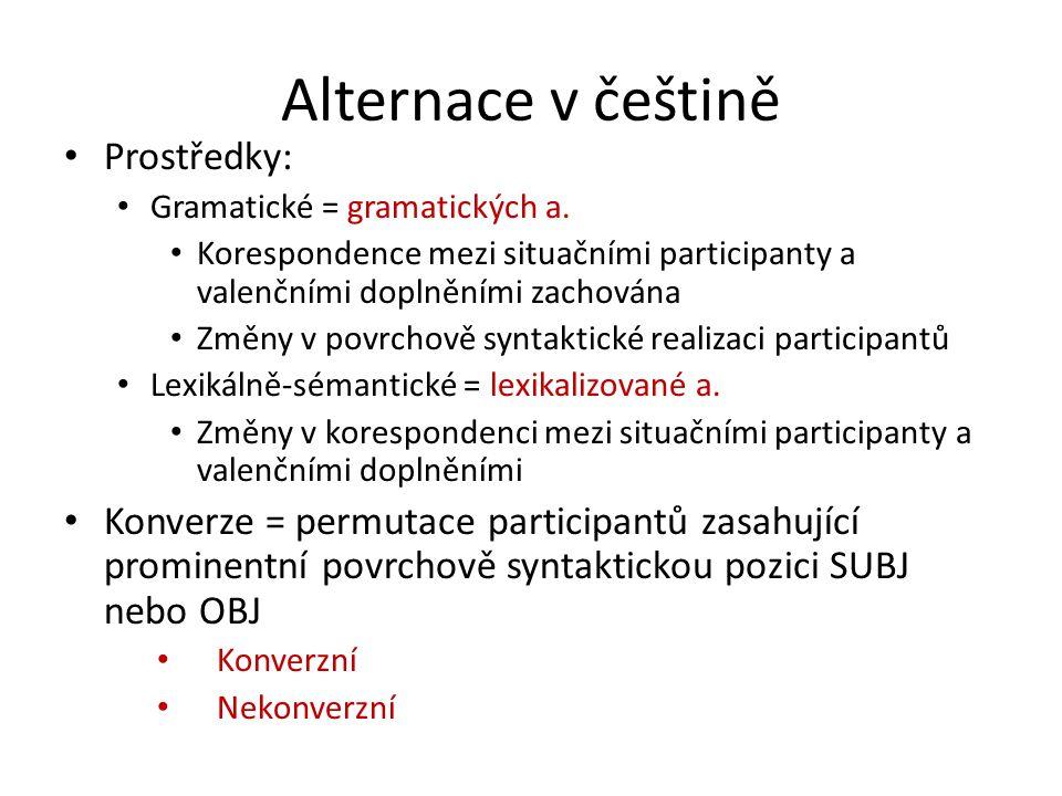 Alternace v češtině Prostředky: