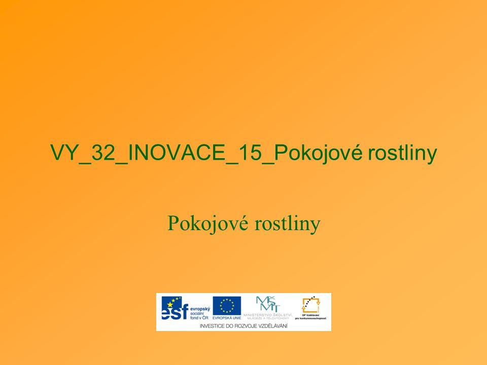 VY_32_INOVACE_15_Pokojové rostliny