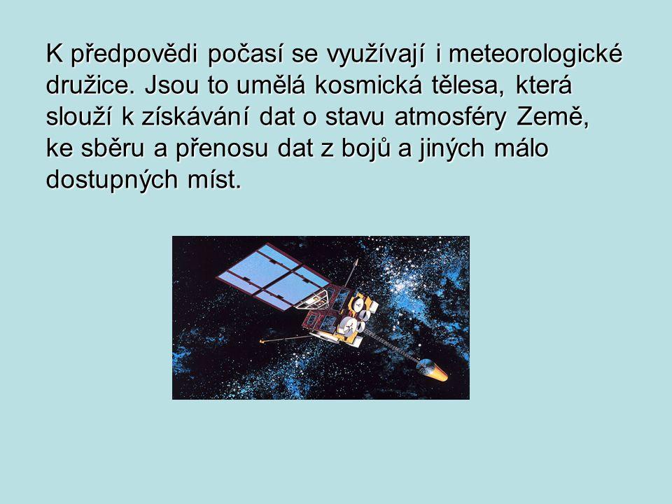 K předpovědi počasí se využívají i meteorologické družice