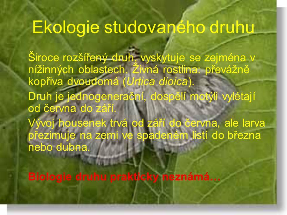 Ekologie studovaného druhu