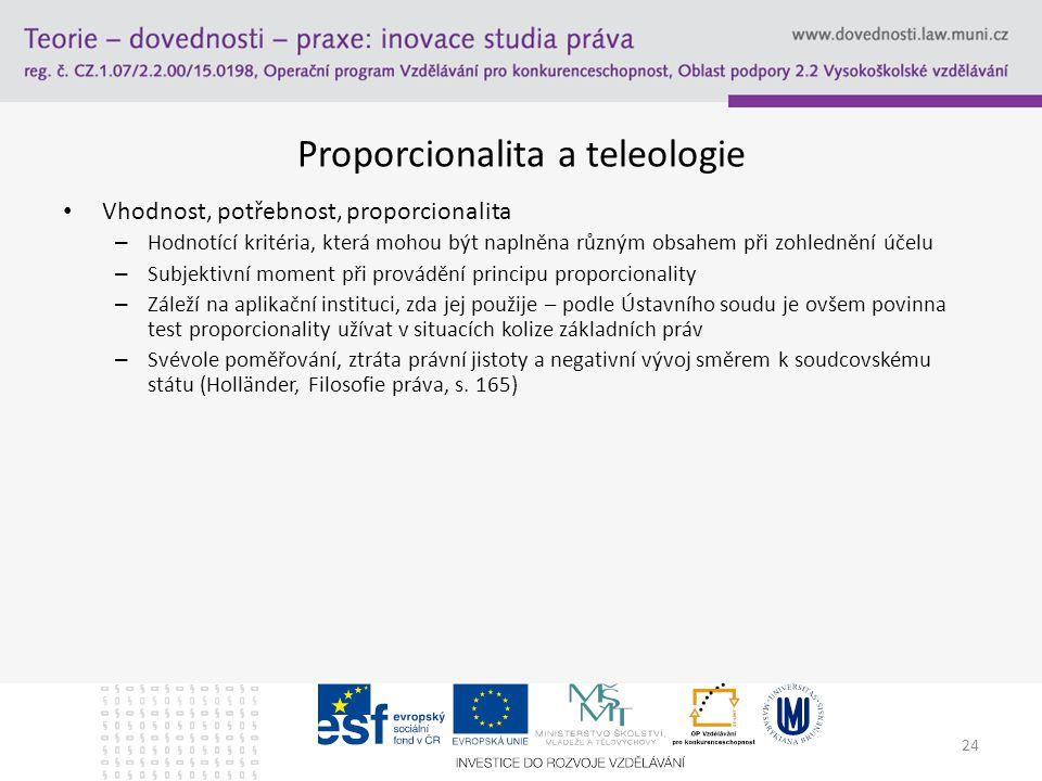 Proporcionalita a teleologie