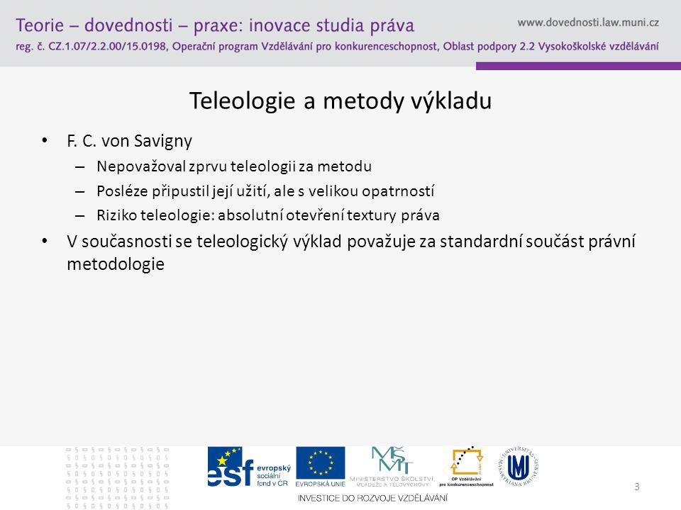 Teleologie a metody výkladu