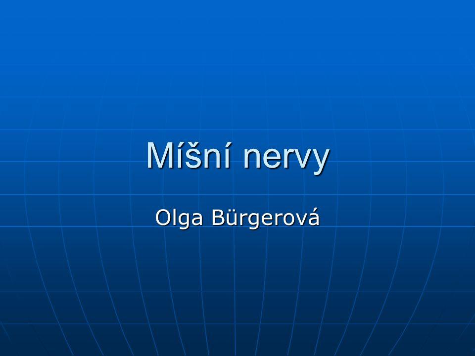 Míšní nervy Olga Bürgerová