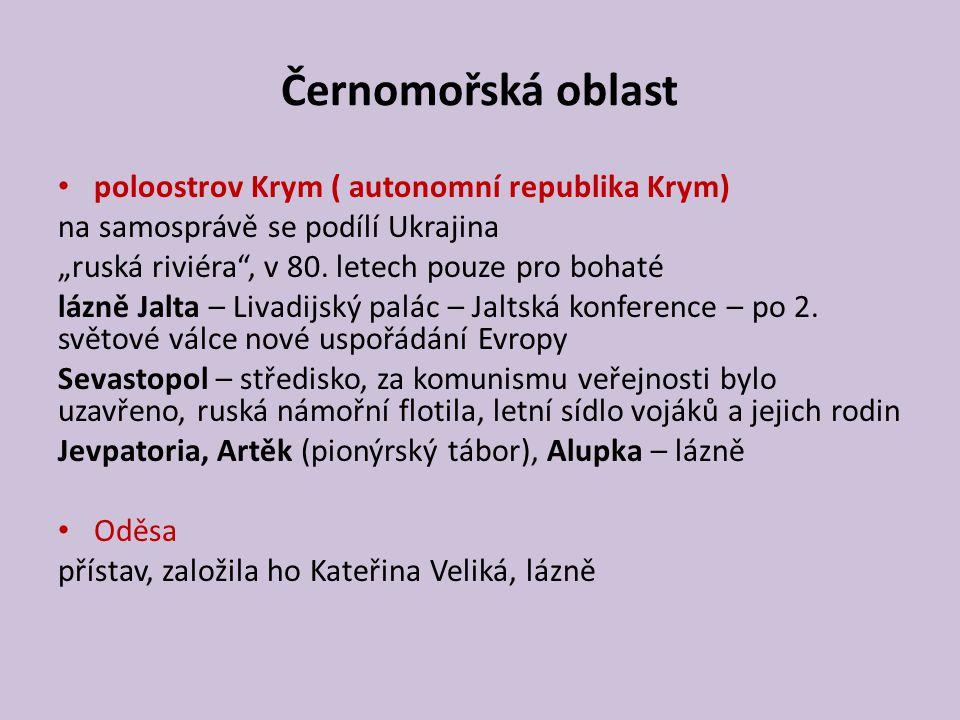 Černomořská oblast poloostrov Krym ( autonomní republika Krym)