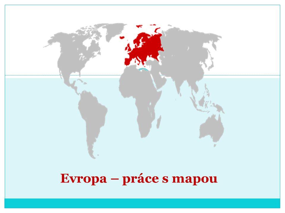 Evropa – práce s mapou