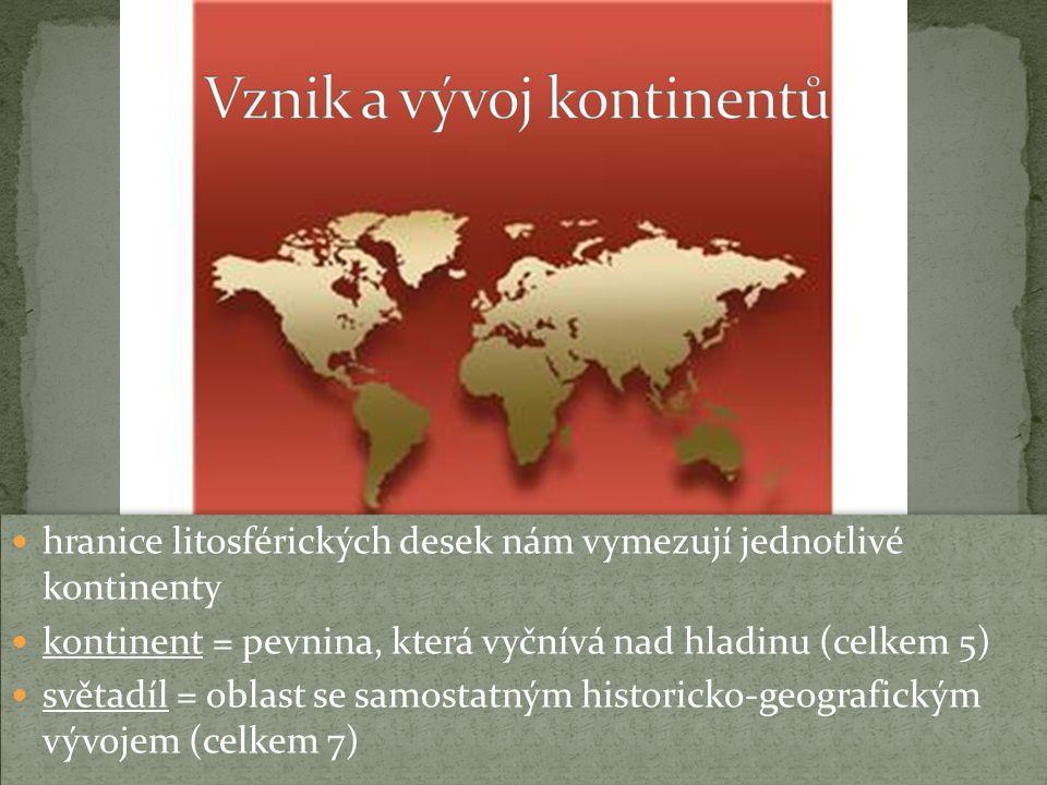 Vznik a vývoj kontinentů