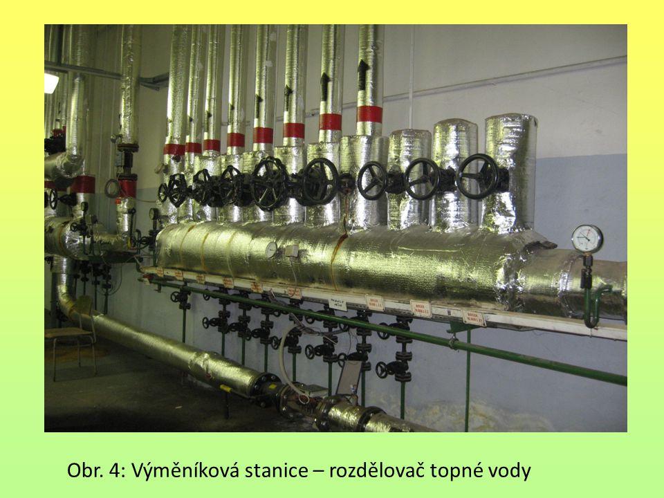 Obr. 4: Výměníková stanice – rozdělovač topné vody