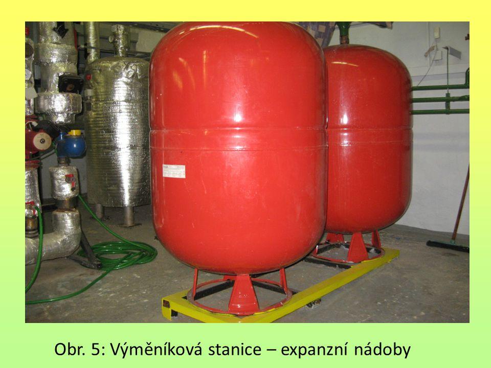 Obr. 5: Výměníková stanice – expanzní nádoby
