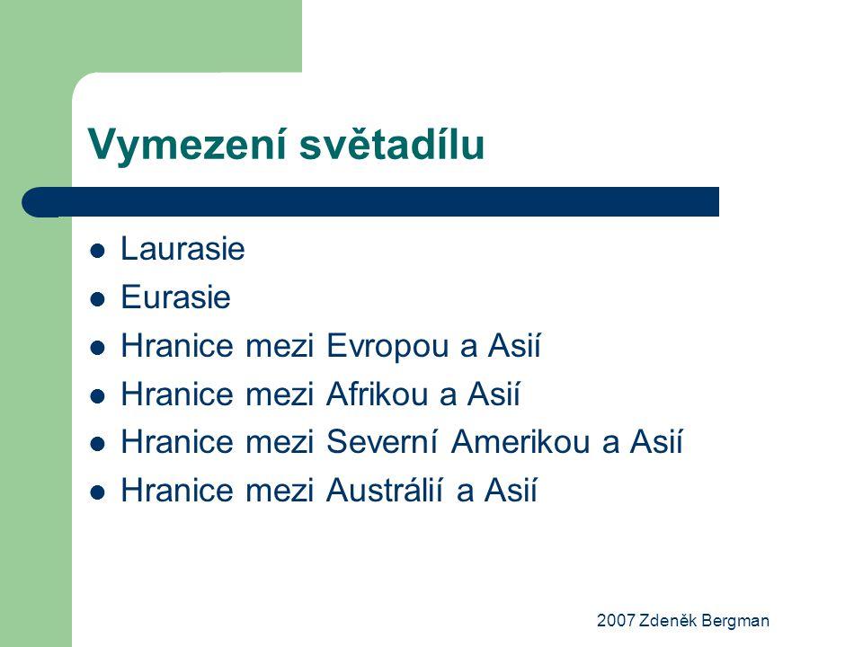 Vymezení světadílu Laurasie Eurasie Hranice mezi Evropou a Asií