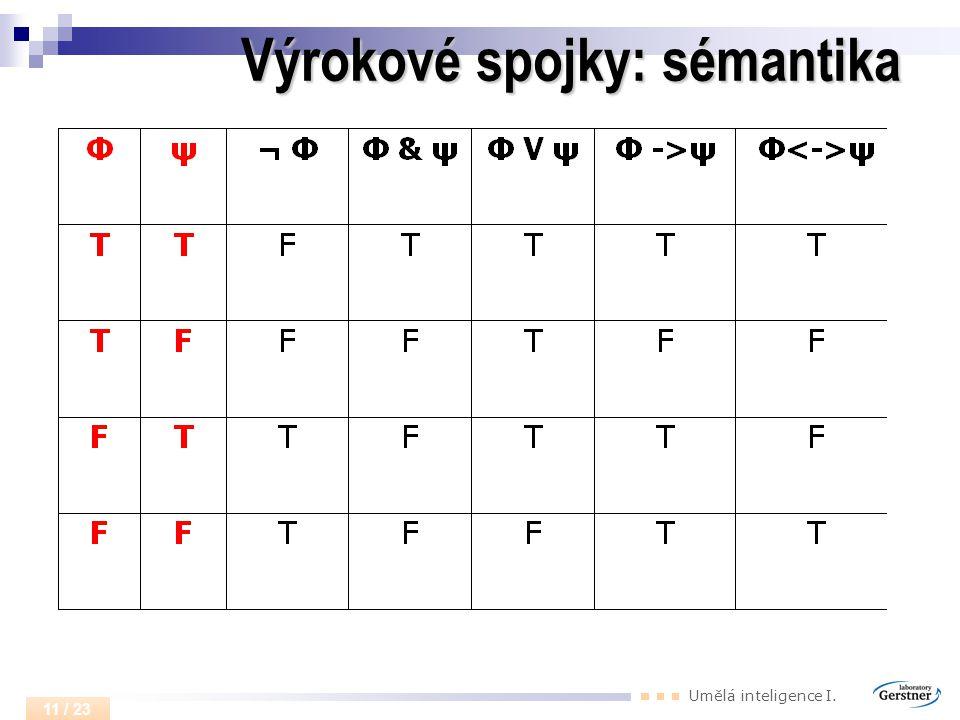Výrokové spojky: sémantika