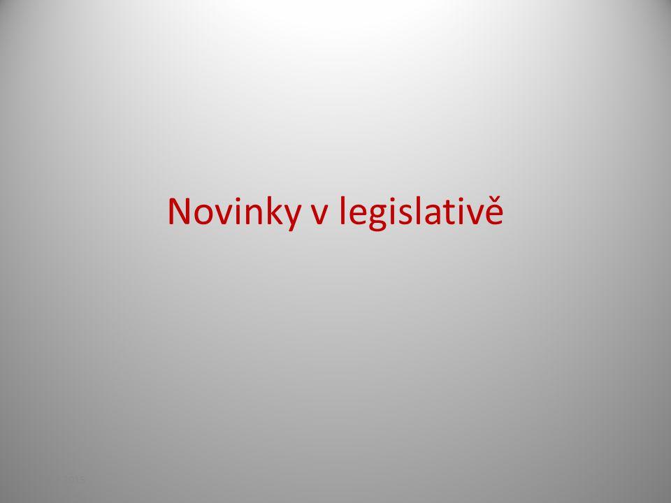 Novinky v legislativě 13.4.2017