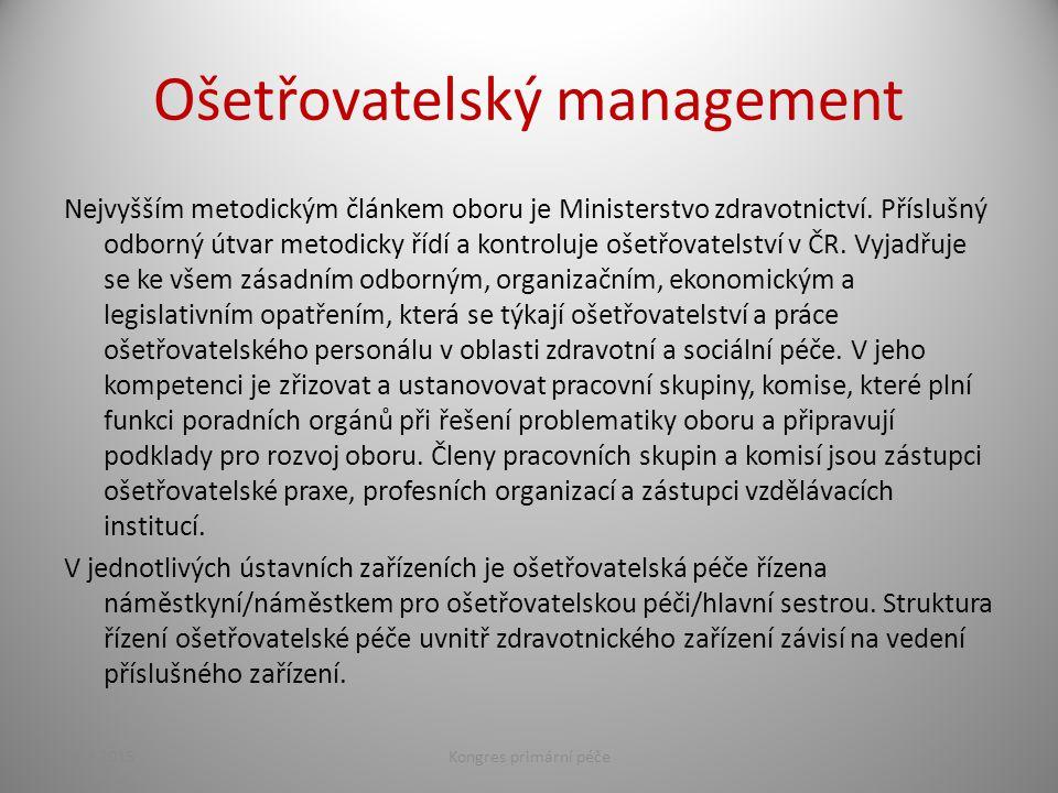 Ošetřovatelský management