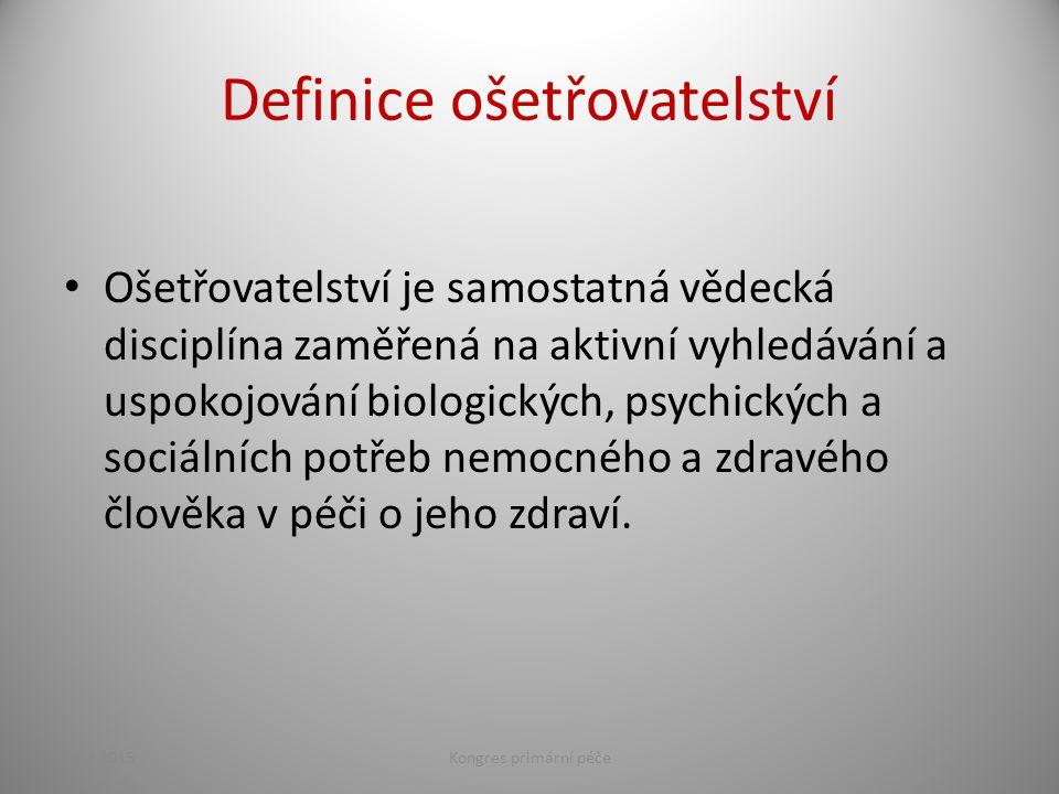Definice ošetřovatelství