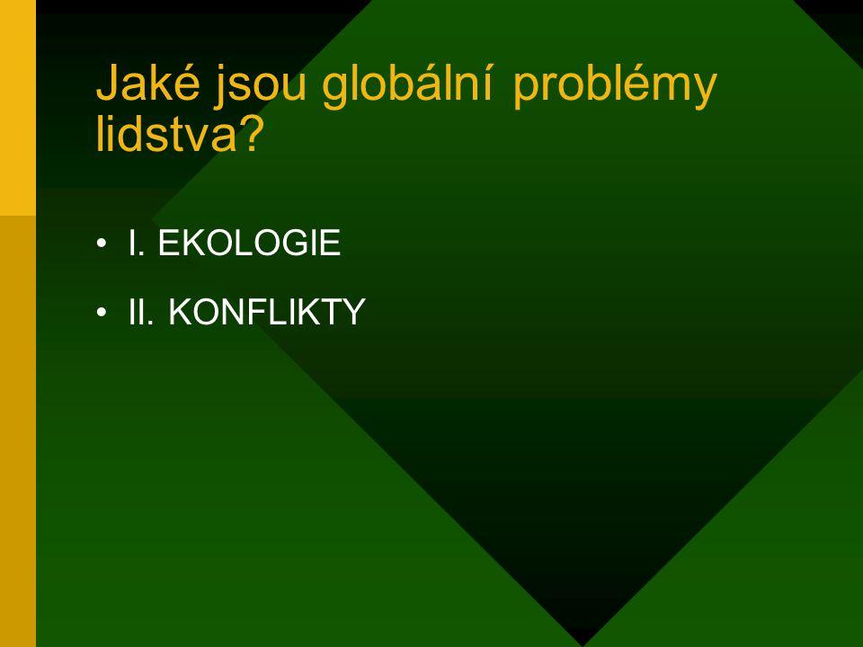 Jaké jsou globální problémy lidstva