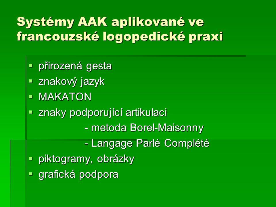 Systémy AAK aplikované ve francouzské logopedické praxi