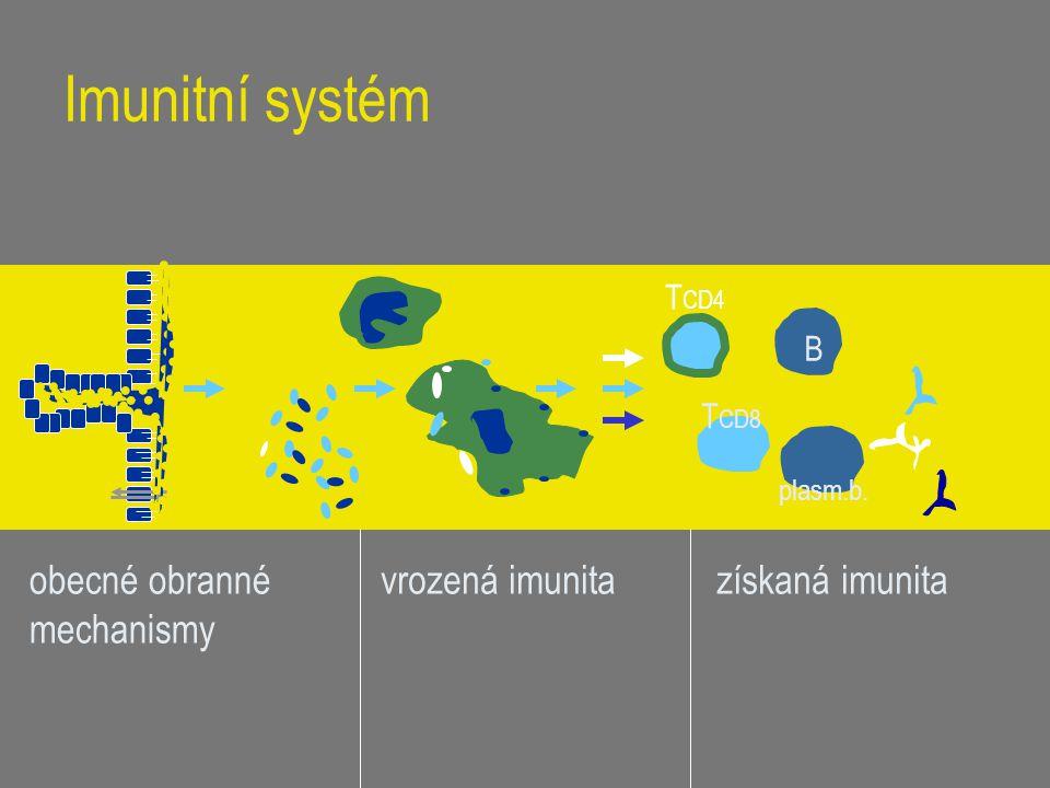 Imunitní systém obecné obranné mechanismy vrozená imunita
