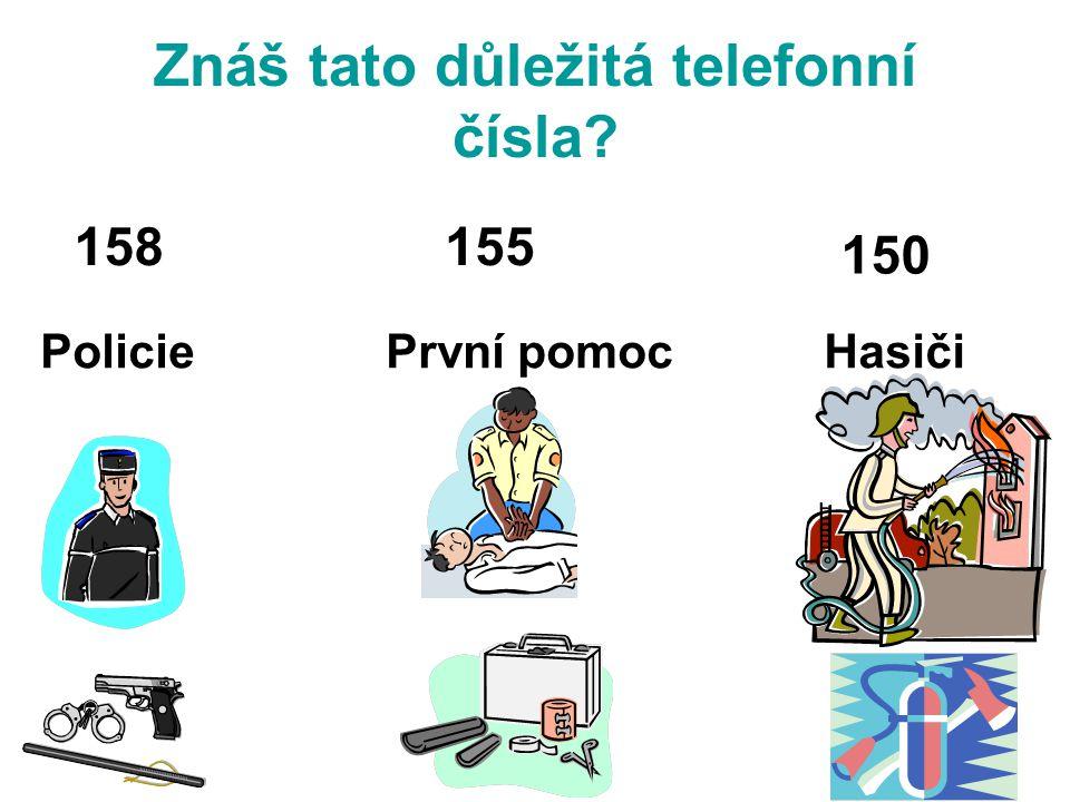 Znáš tato důležitá telefonní čísla