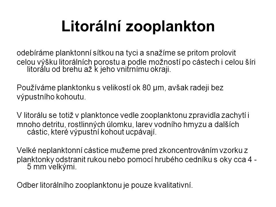 Litorální zooplankton