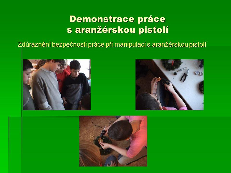 Demonstrace práce s aranžérskou pistolí