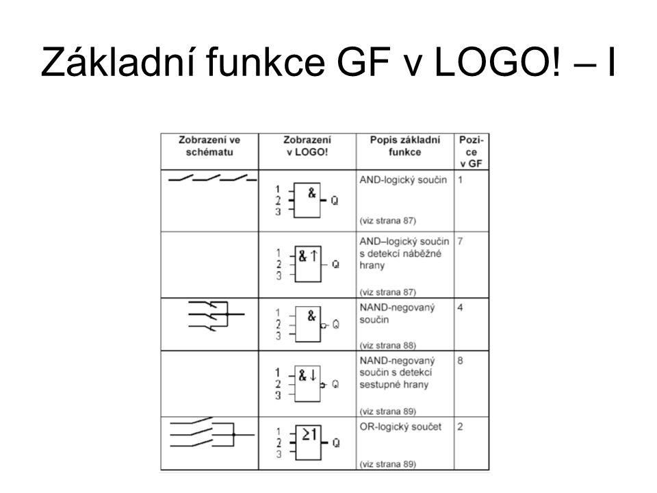 Základní funkce GF v LOGO! – I